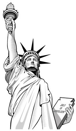 Statue Of Liberty Clipart Black And White (82+ images in.