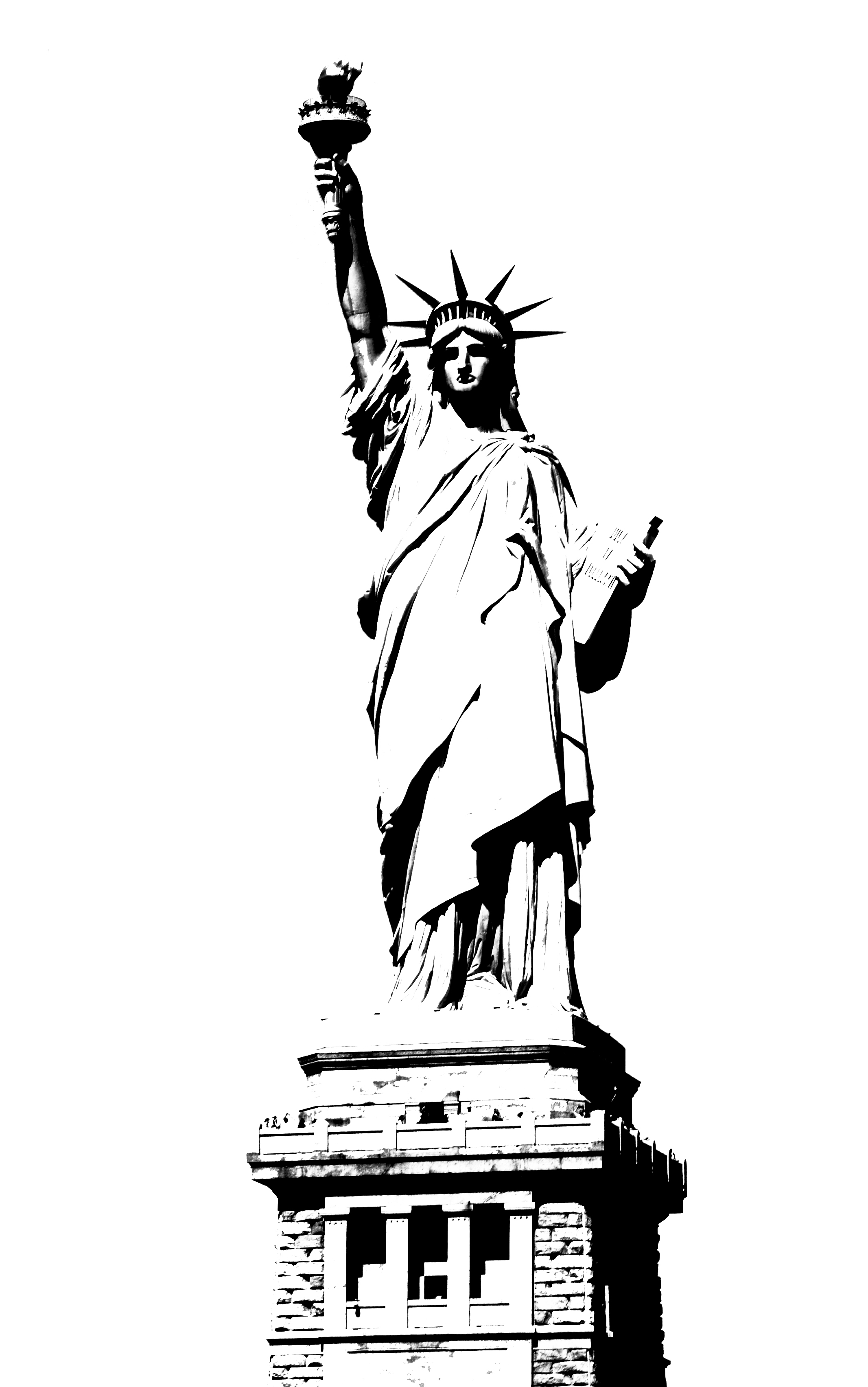 Statue of liberty clip art black and white clipart kid.