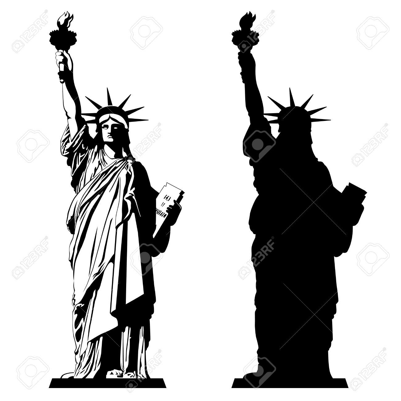 Statue of liberty clipart black and white 1 » Clipart Portal.