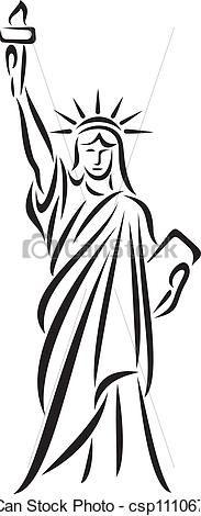Lady Liberty Drawing.