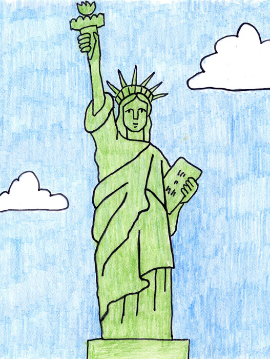 Free Statue Of Liberty Drawing, Download Free Clip Art, Free.