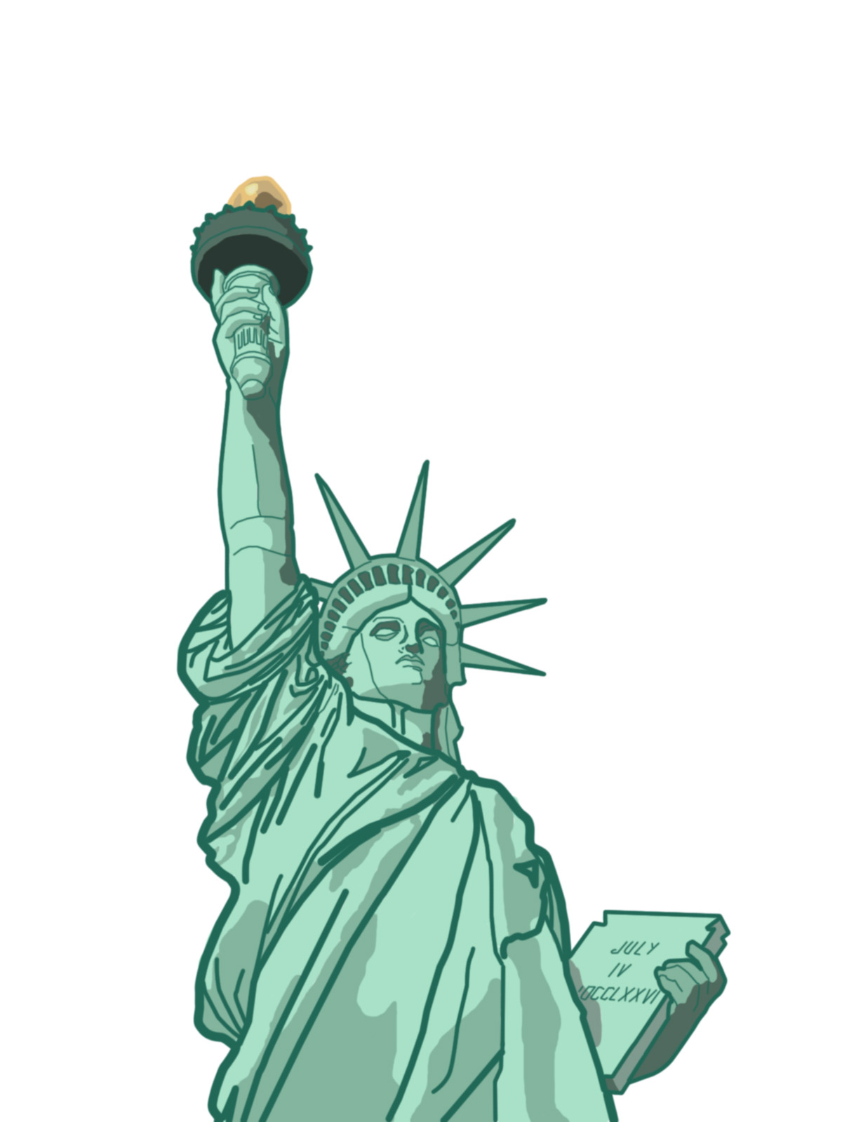 802 Statue Of Liberty free clipart.