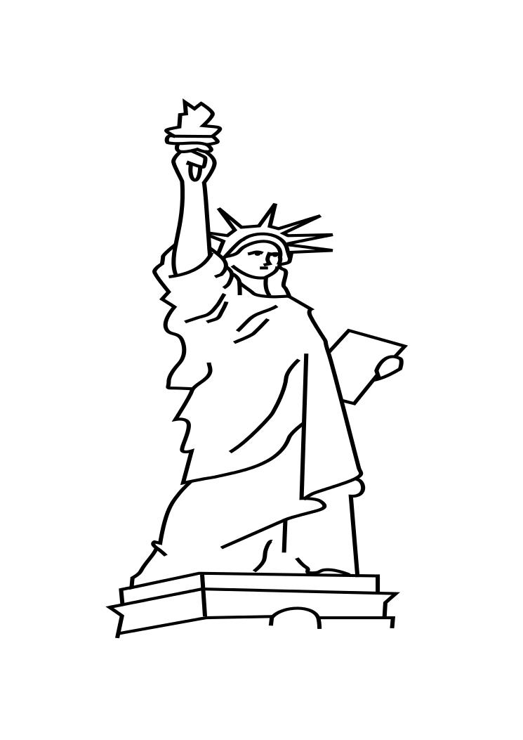 Free Statue Of Liberty Drawing Outline, Download Free Clip.