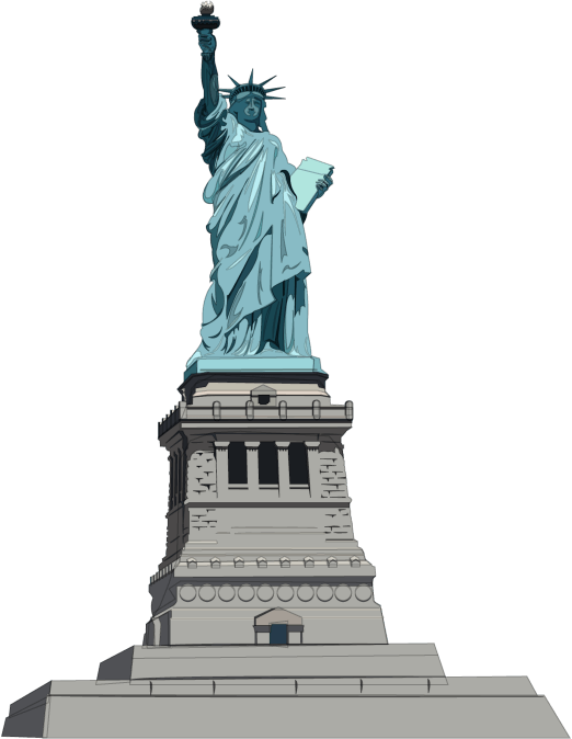 Statue Of Liberty Illustration transparent PNG.