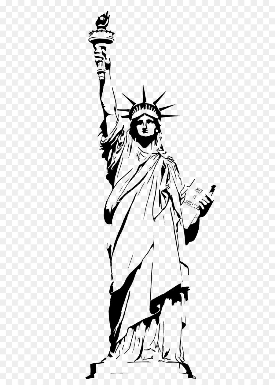 Statue Of Liberty Cartoon png download.