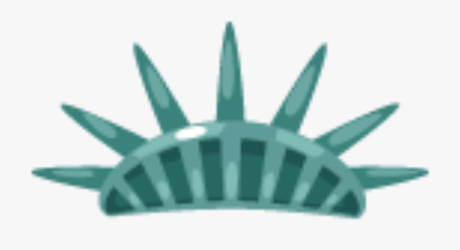 Drawn Statue Of Liberty Crown.