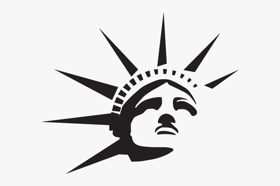 Statue Of Liberty Crown Drawing.