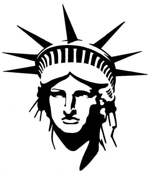 Statue of liberty head clipart 1 » Clipart Portal.