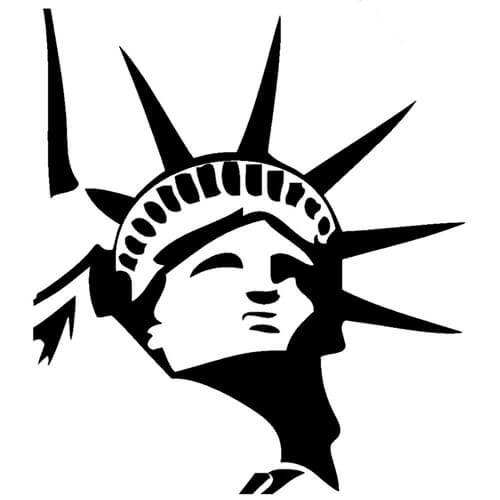 Statue of Liberty Decal Sticker.