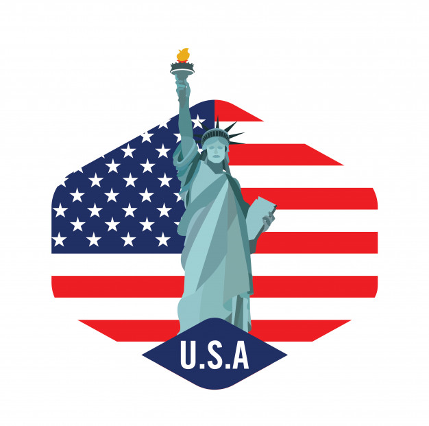 New york city logo with statue of liberty Vector.