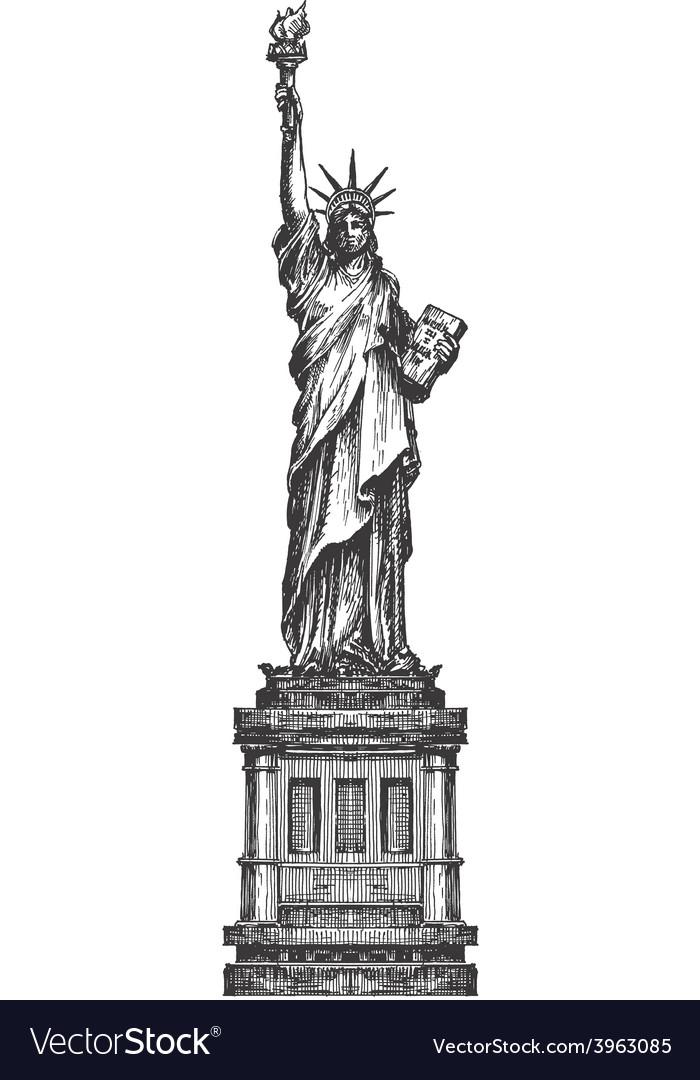 Statue of liberty logo design template America or.