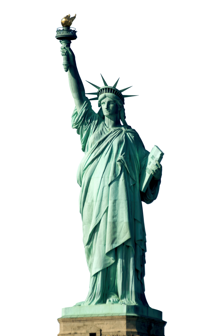 Statue Of Liberty PNG Transparent Image Free Download.