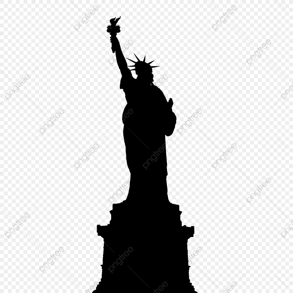 Silhouette Liberty, Png, Statue, Liberty PNG Transparent.