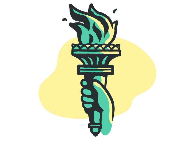 Statue of Liberty Torch by Meng Yang on Dribbble.