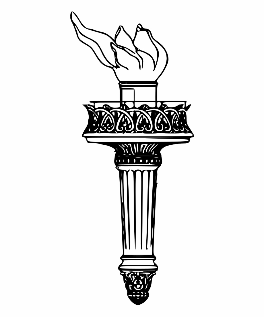 Statue Of Liberty Torch Clipart Clipartfest.