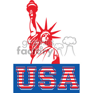 4th of july statue of liberty vector icon clipart. Royalty.