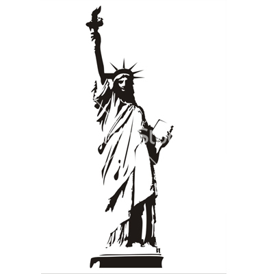 Free Statue Of Liberty Vector Silhouette, Download Free Clip.