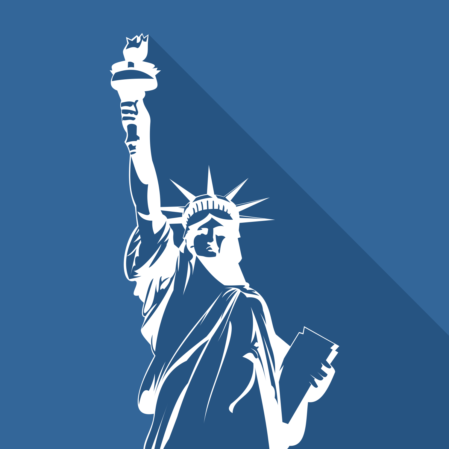 Vector for free use: Statue of Liberty Vector.