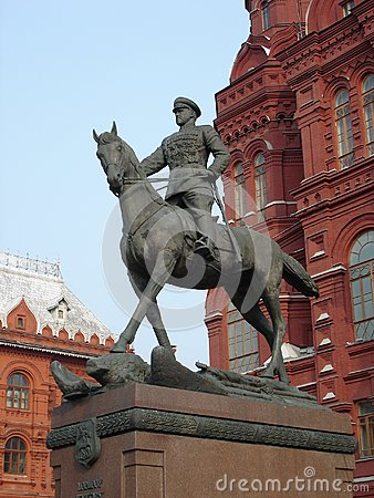 Marshal Zhukov's Statue Royalty Free Stock Images.