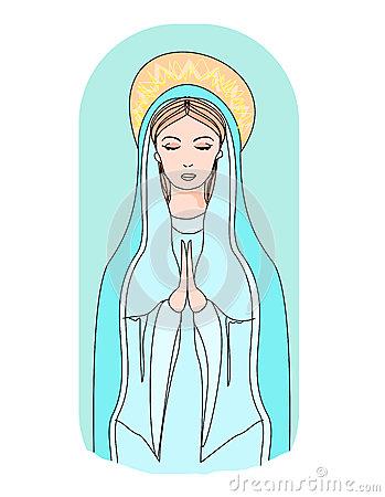 Similiar The Virgin Mary And Rosary Clip Art Keywords.