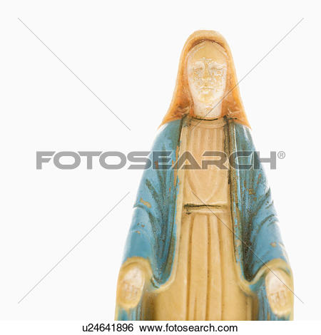 Stock Images of Virgin Mary statue with hands held out u24641896.