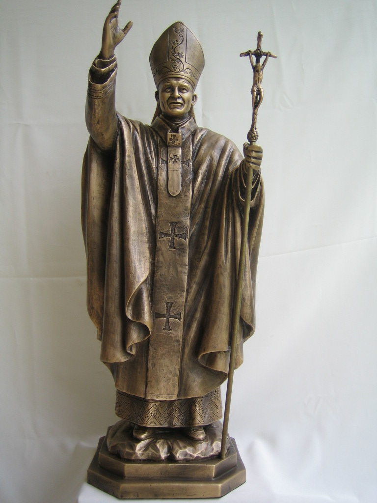 Solid Bronze Statues Of Blessed Pope John Paul II.
