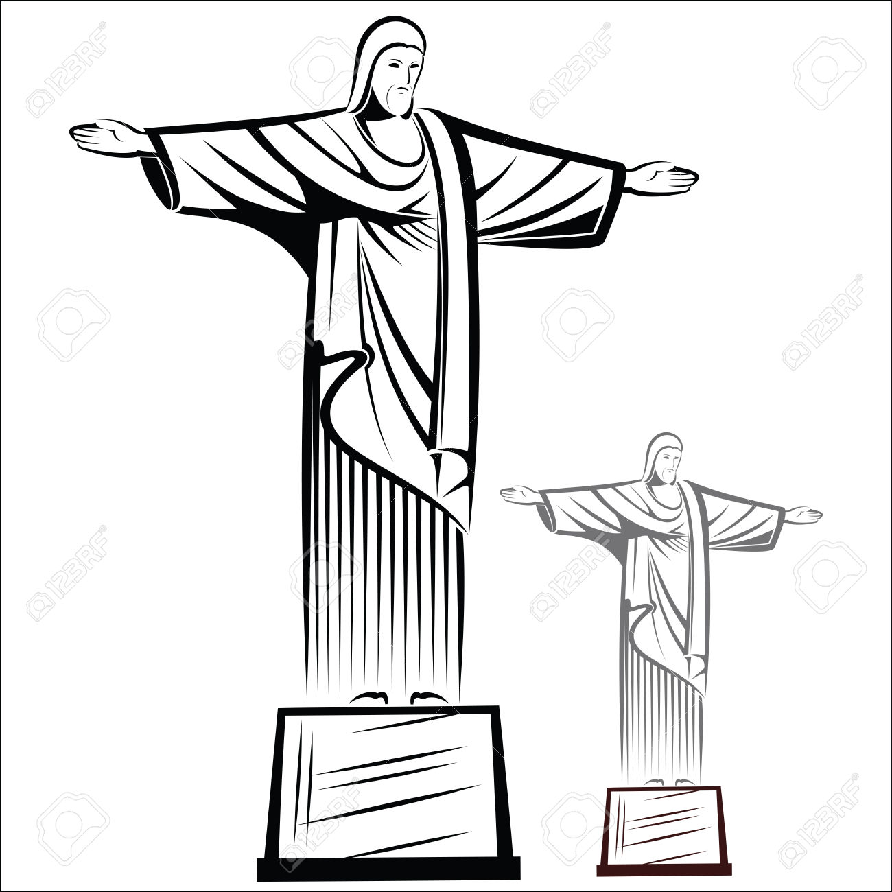 Christ The Redeemer Royalty Free Cliparts, Vectors, And Stock.