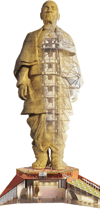 Statue of Unity Height, Cost, Construction.