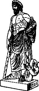 Asklepios Statue Clip Art at Clker.com.