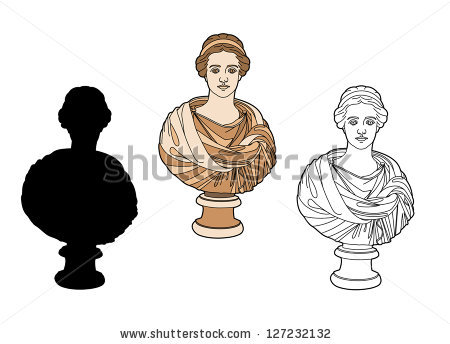 Statue Bust Of A Woman Stock Vectors & Vector Clip Art.