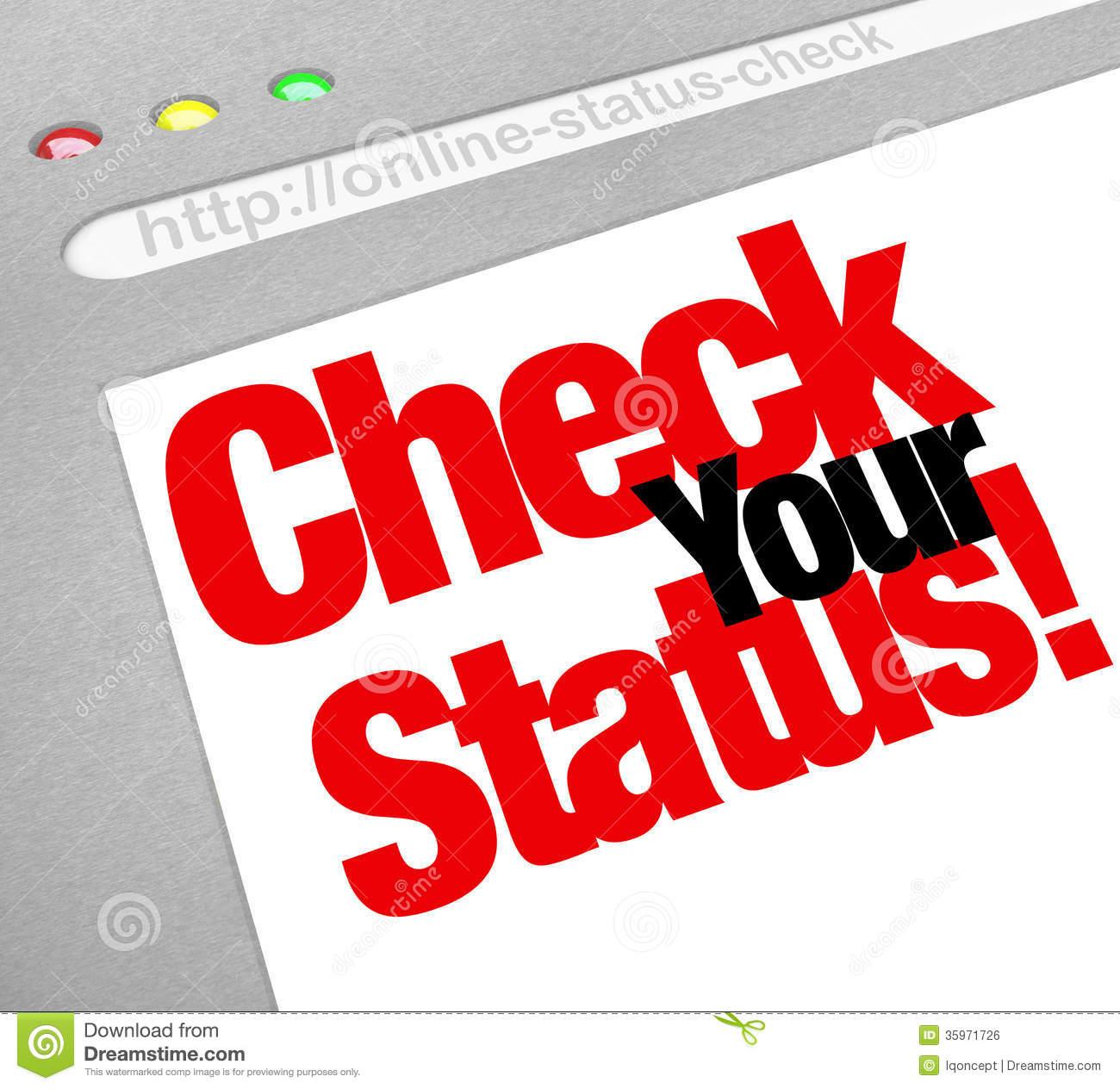 Status Update Clipart.