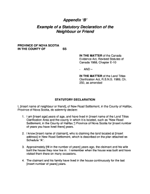 statutory declaration example.