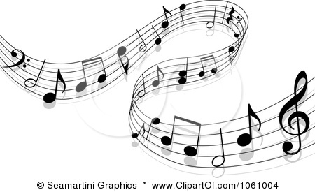 Music Notes On Staff Clipart.