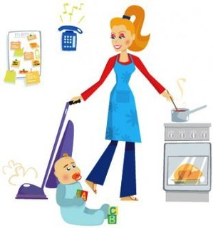 Stay at Home Mom and Wife Clipart.