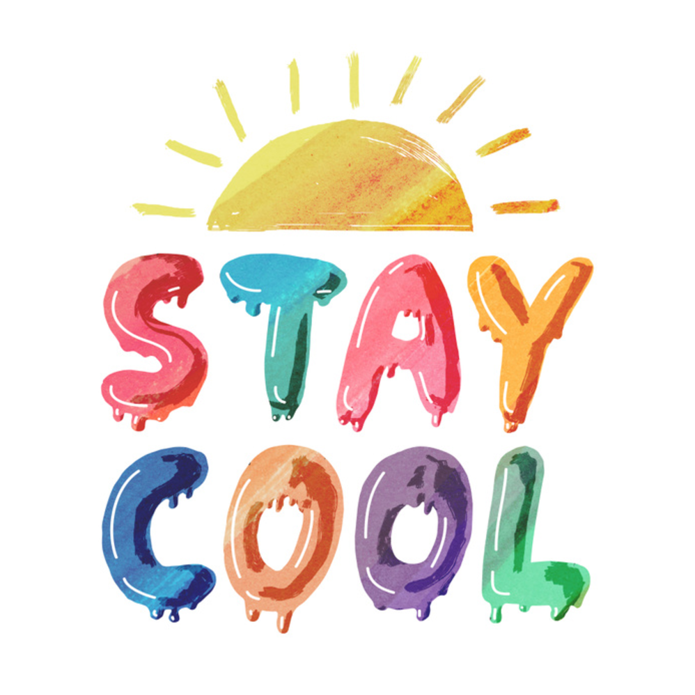Melting Stay Cool illustration and lettering by Maggie.