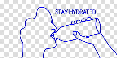 Stay hydrated illustraiton transparent background PNG.