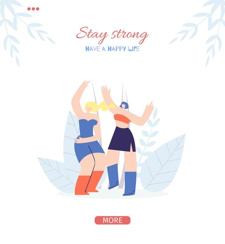 Stay Strong Motivation Banner.
