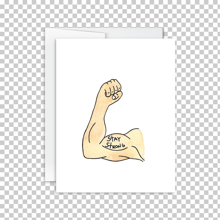 Thumb Paper Mammal Cartoon Font, stay Strong PNG clipart.