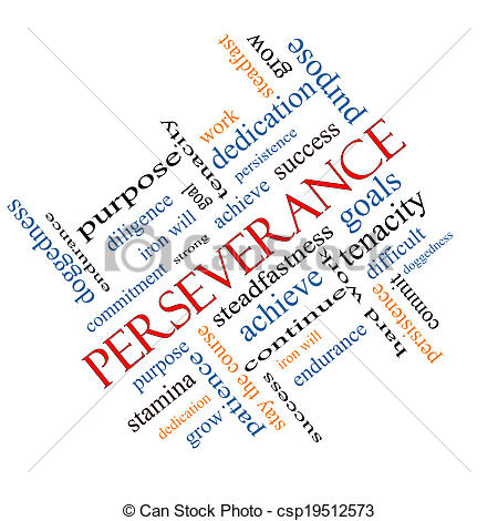 Picture of Perseverance Word Cloud Concept Angled.