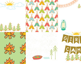 Digital Clip Art LDS Girls Camp Clip Art Set 2 by sophieandlu.