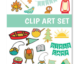 Items similar to Digital Clip Art Gold Foil LDS Girls Camp Clip.