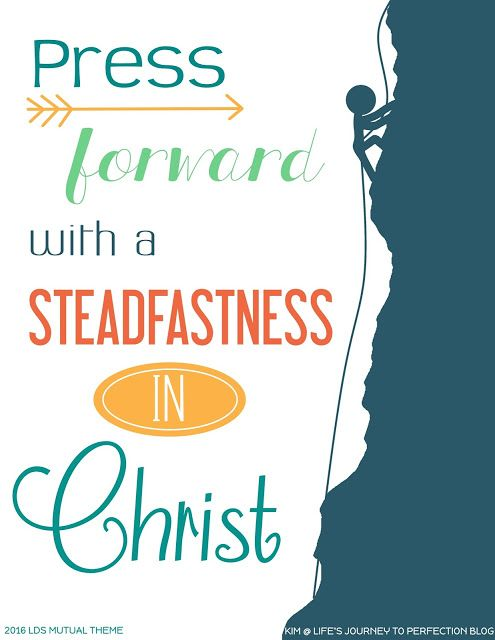 2016 LDS Mutual Theme Ideas and Free Printables: Press Forward.