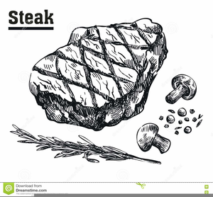 Steak Clipart Black And White.