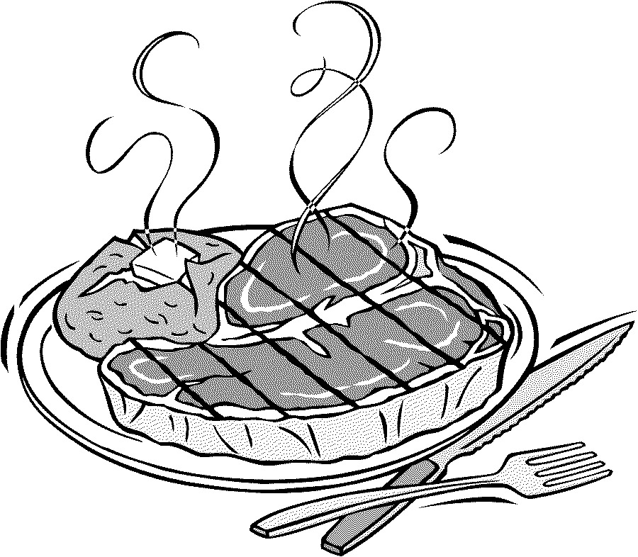 Free Steak Clipart Black And White, Download Free Clip Art.