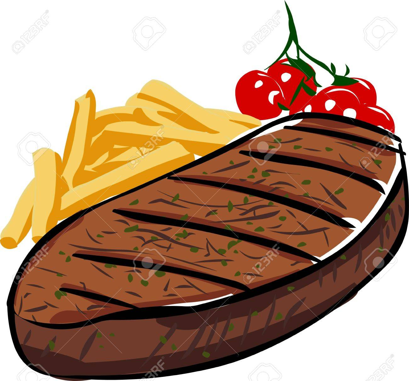1260 Steak free clipart.