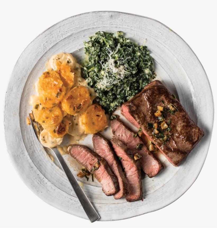 Flat Iron Steak Dinner.