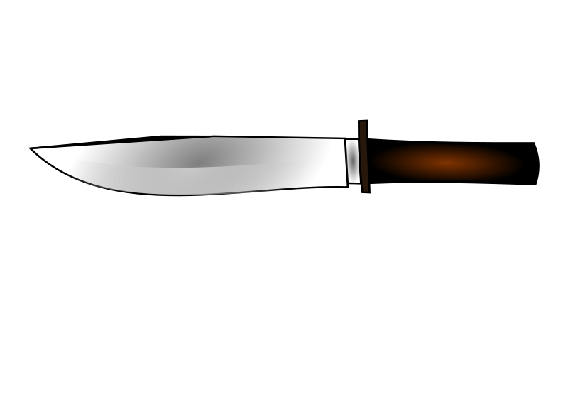Black Steak Knife Clipart.