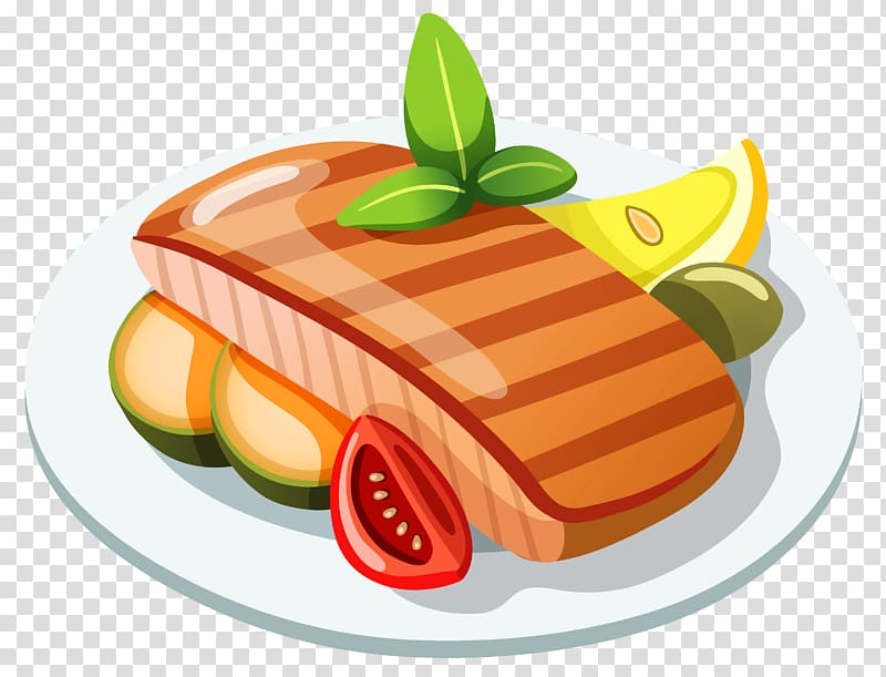 Food Icon, Grilled Steak , meat with sliced tomato in plate.