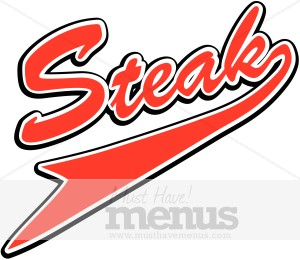 Steaks Menu Templates.