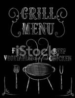 Grill Menü Poster stock.